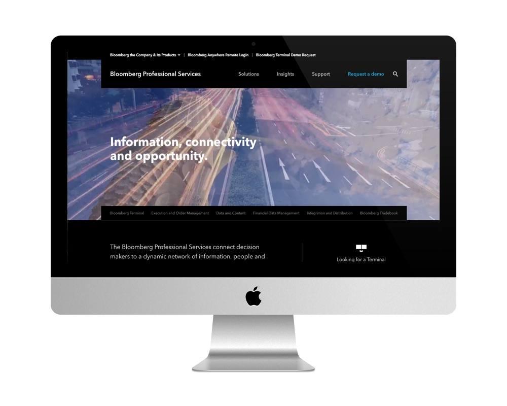 Site de Bloomberg Professional est fait avec WordPress