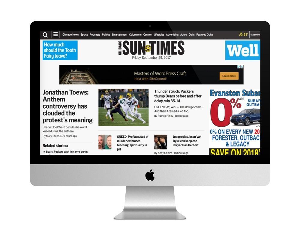 Site de Chicago SunTimes est fait avec WordPress
