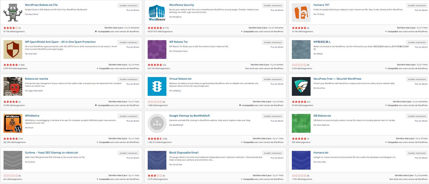 WordPress propose de nombreuses extensions gratuites