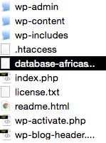 """répertoires """"wp-admin"""", """"wp-content"""" et """"wp-include"""""""