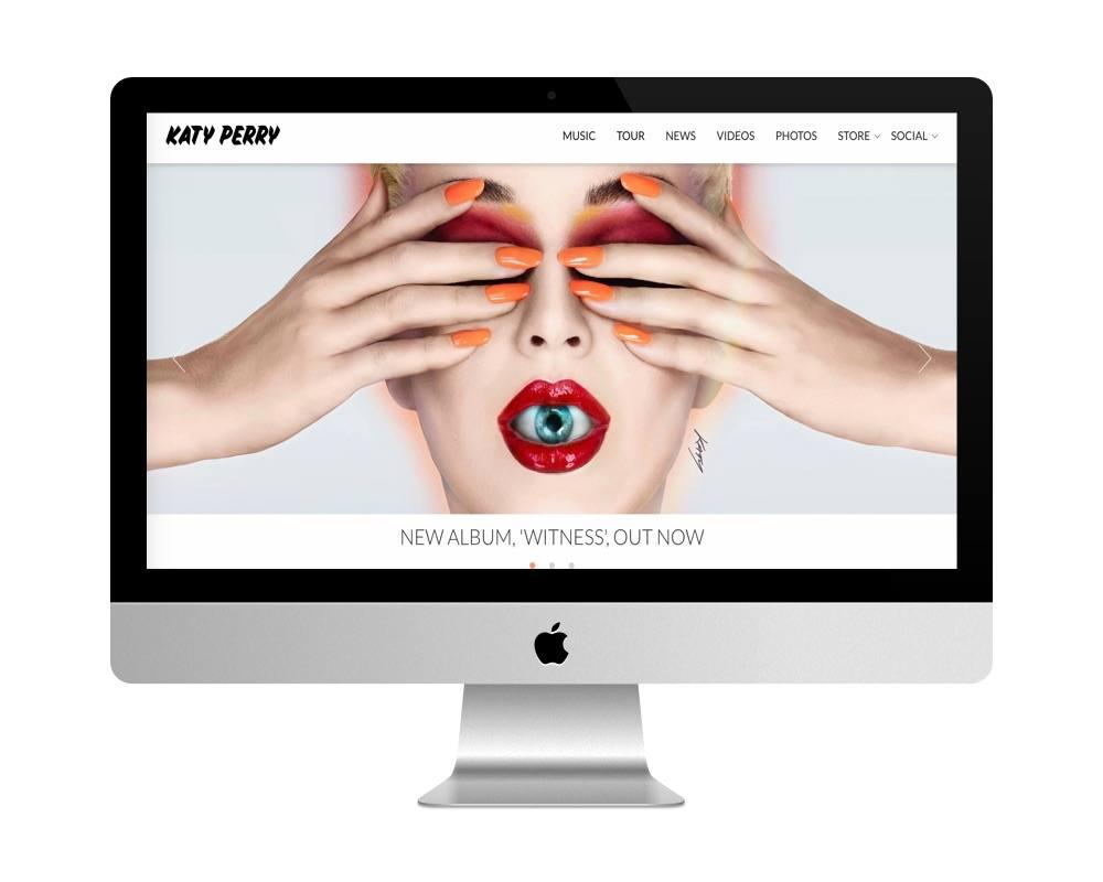Site officiel de Katy Perry est fait avec WordPress