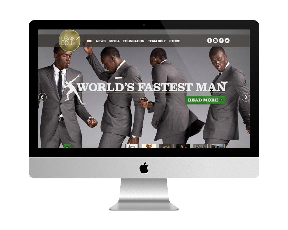 Site officiel d'Usain Bolt est fait avec WP