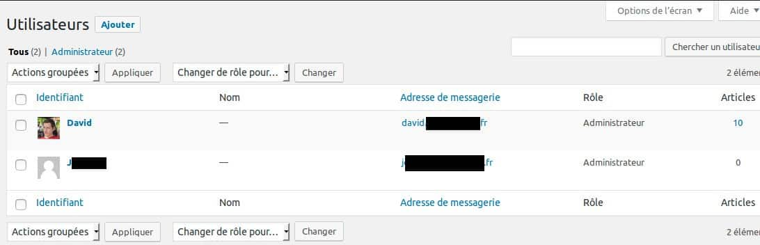 Comment partager vos brouillons d articles - Section Utilisateurs du tableau de bord WordPress