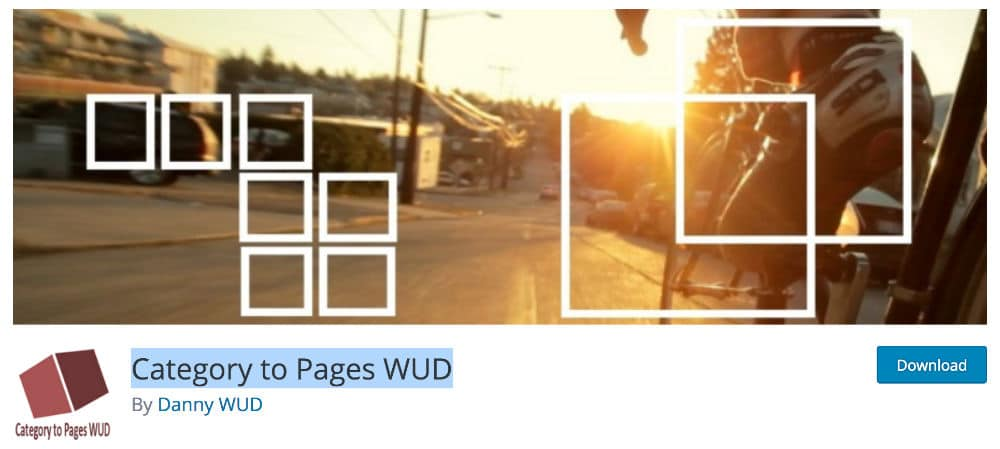 Category to Page WUD Plugin