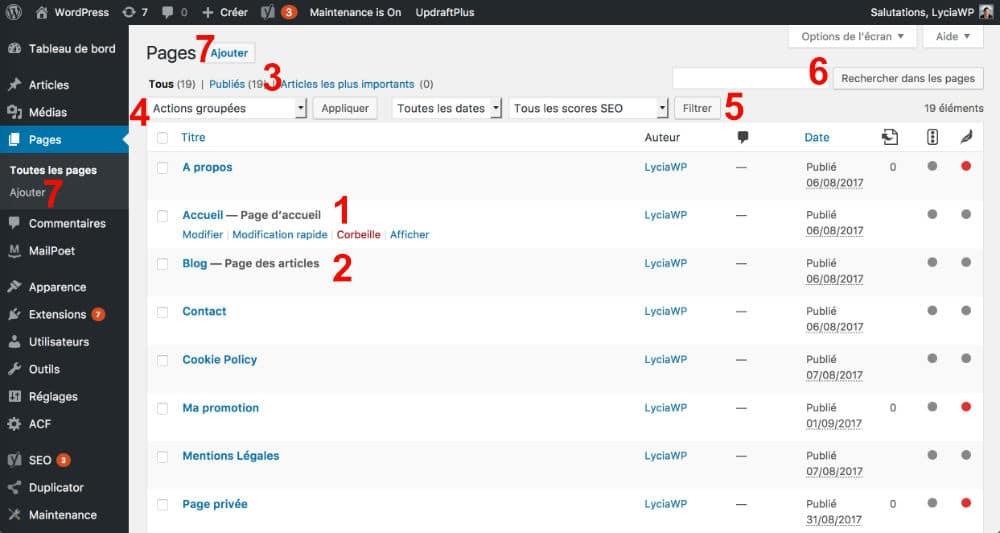 """Résultat de recherche d'images pour """"wordpress page"""""""