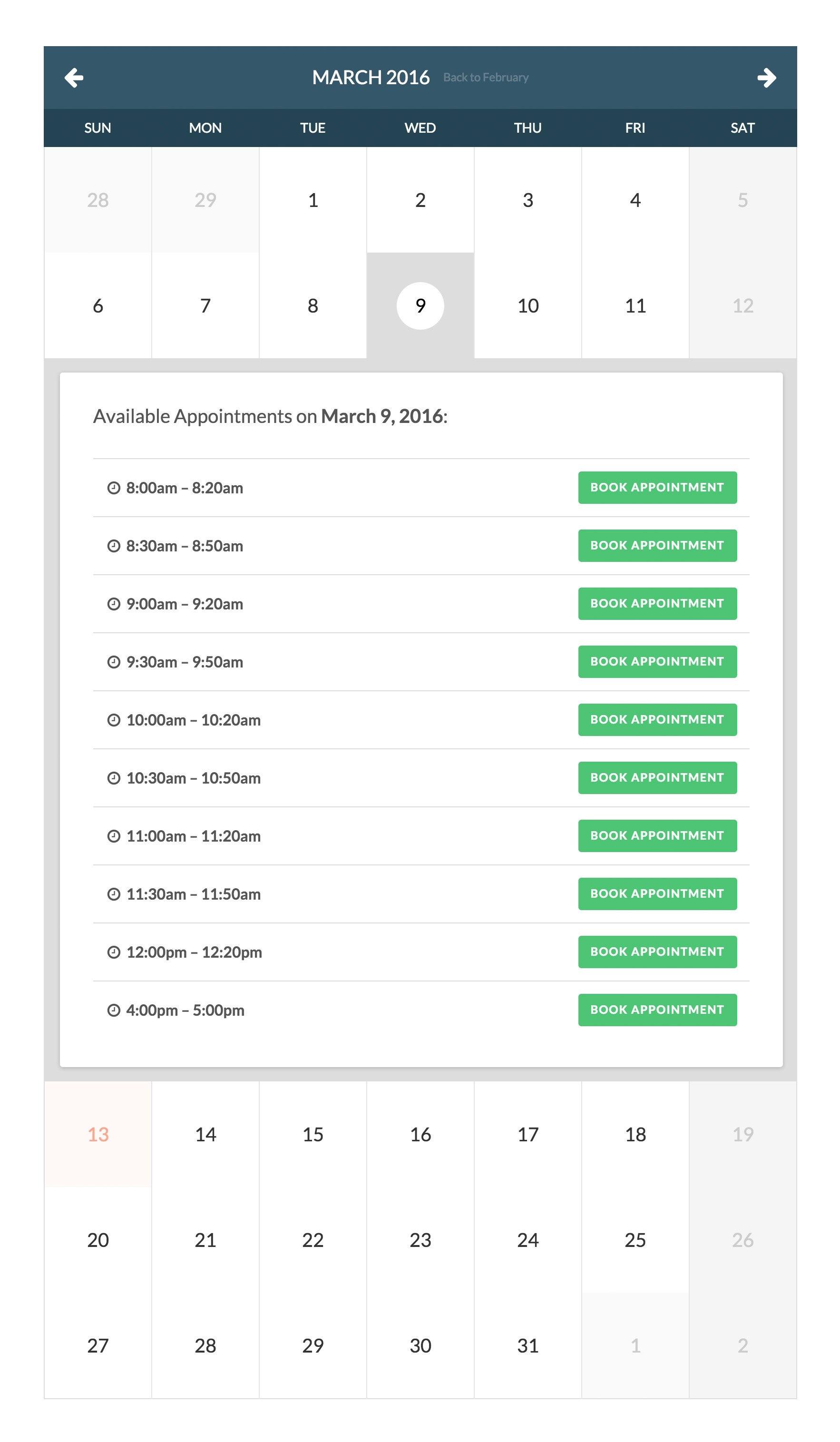 Le plugin Booked - disponible sur la plateforme Envato Elements
