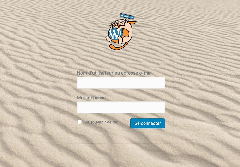 Modifier l'apparence du formulaire de la page de connexion WordPress