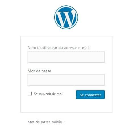 page-connexion-wordpress