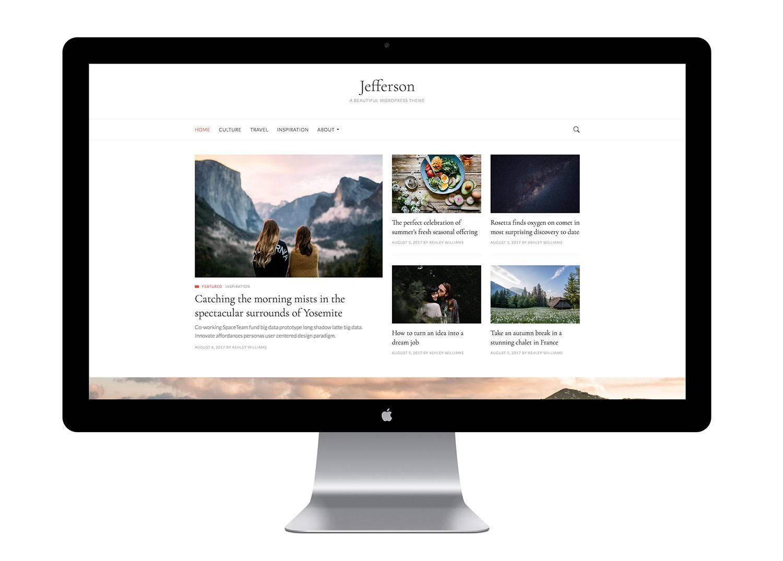 Thème WordPress Gratuit Jefferson