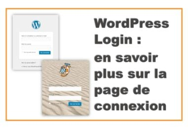 WordPress Login Page - Page de connexion