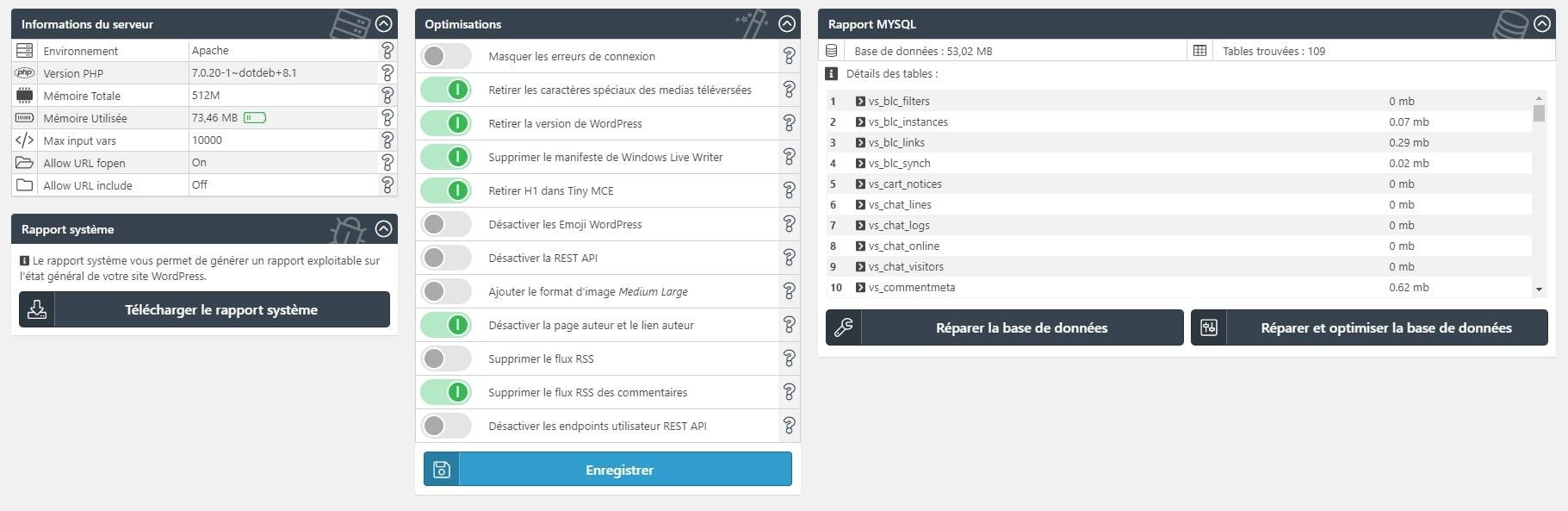 WPS Bidouille infos et optimisations