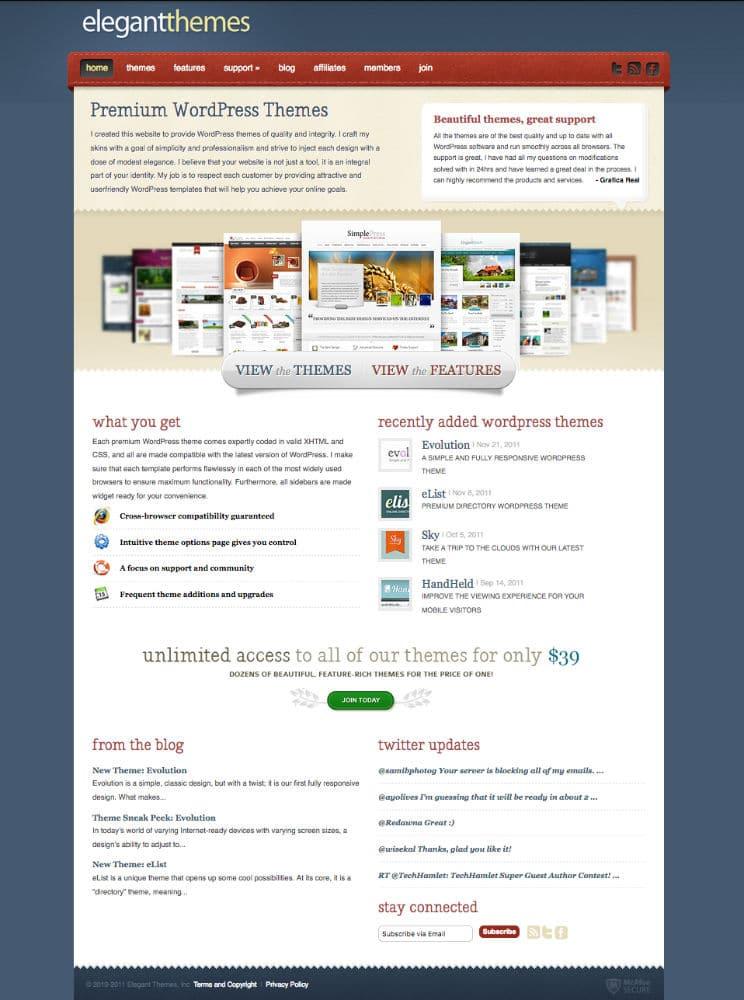 La version du site de ET à la fin 2011