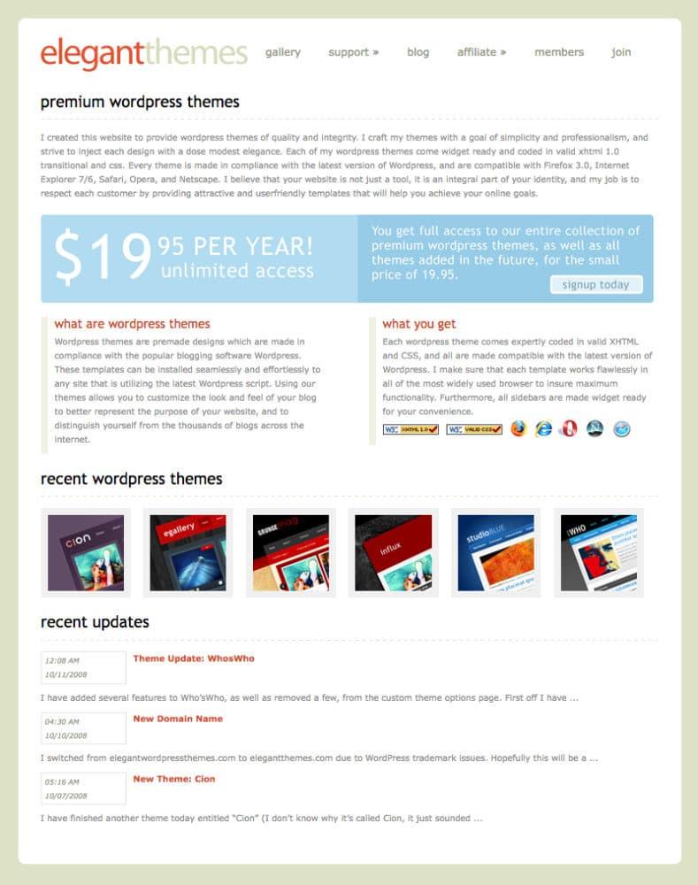 Elegant themes une success story l 39 am ricaine for Idee entreprise americaine