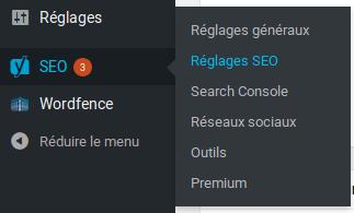 Comment ajouter des fils d'Ariane sur WordPress - Aller dans les reglages de-yoast-seo