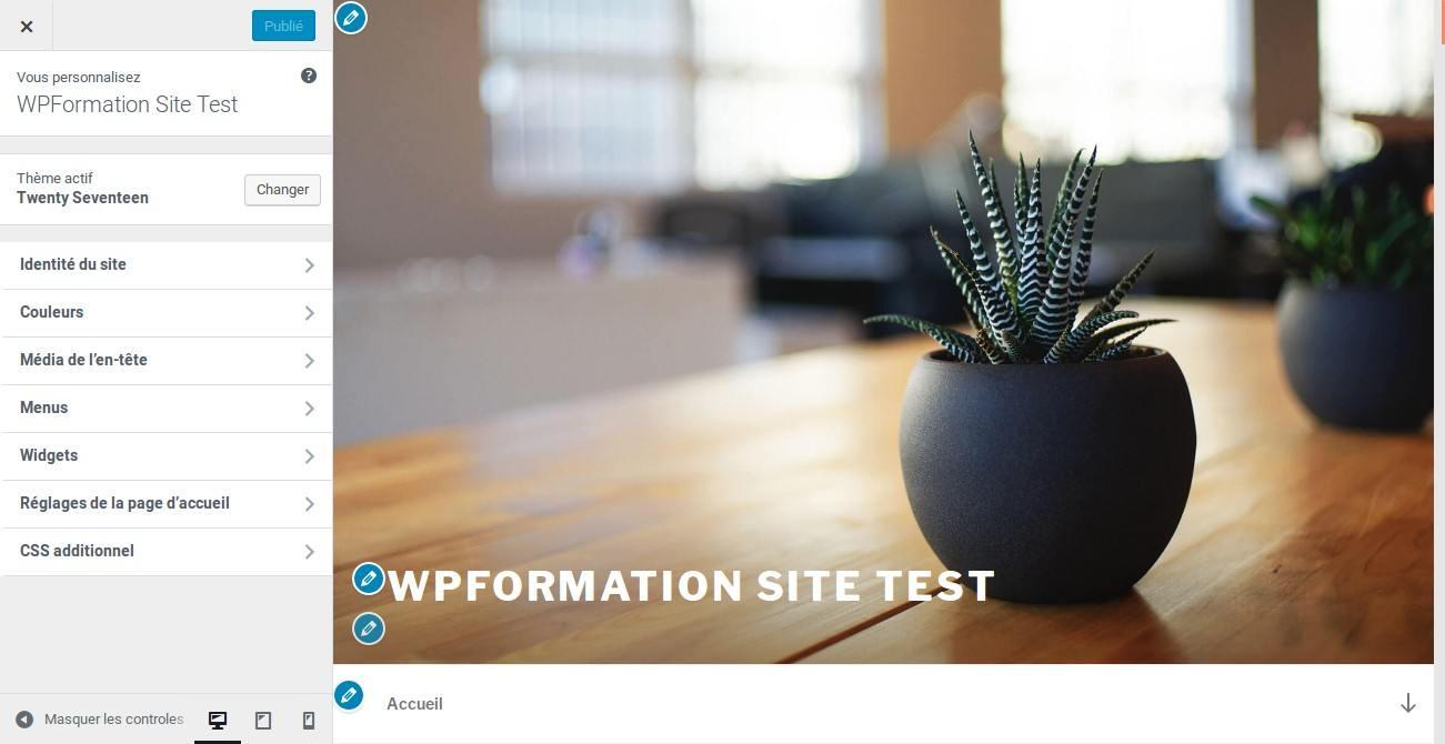 Migrer Joomla vers WordPress - Outil de personnalisation de theme WP