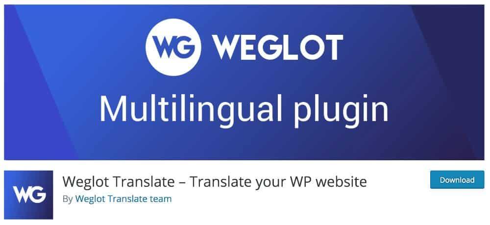 Weglot - plugin WordPress made in France