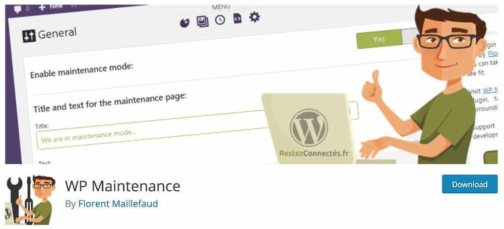 WP Maintenaince : plugin français