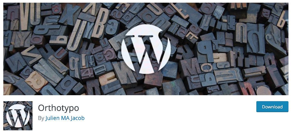 plugin WordPress Made in France : Orthotypo
