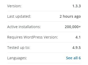 update plugin WordPress