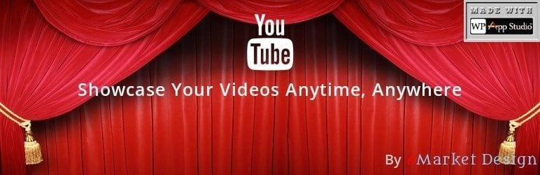 Meilleurs plugins wordpress youtube - youtube showcase