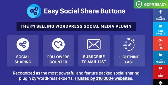 meilleurs plugins reseaux sociaux wordpress - Easy Social Share Buttons