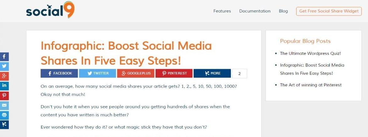 meilleurs plugins reseaux sociaux wordpress - Open Social Share