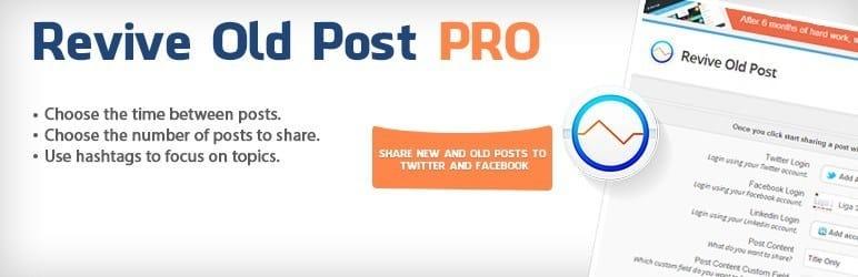 meilleurs plugins reseaux sociaux wordpress - Revive Old Posts