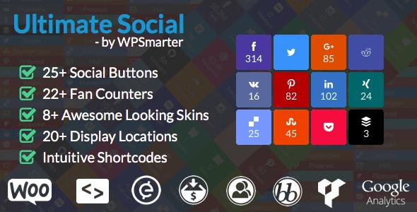 meilleurs plugins reseaux sociaux wordpress - Ultimate Social
