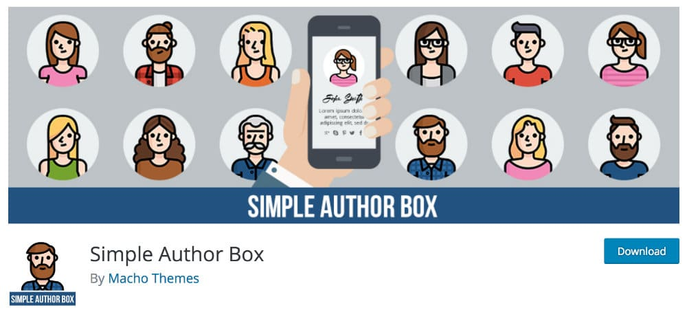 plugin blogging - Simple Author Box