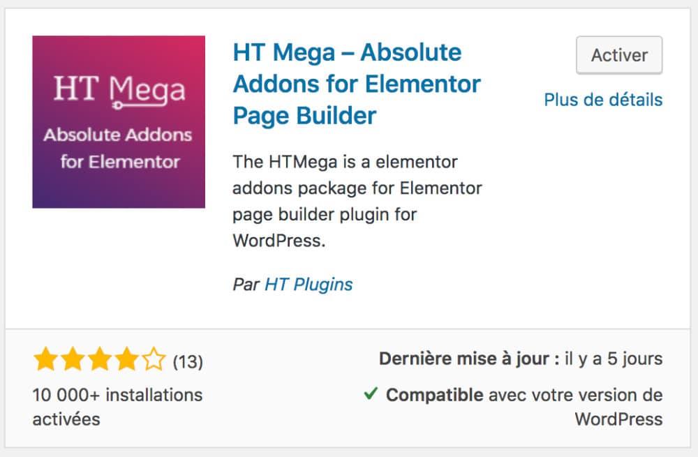 HT Mega - Elementor Addons