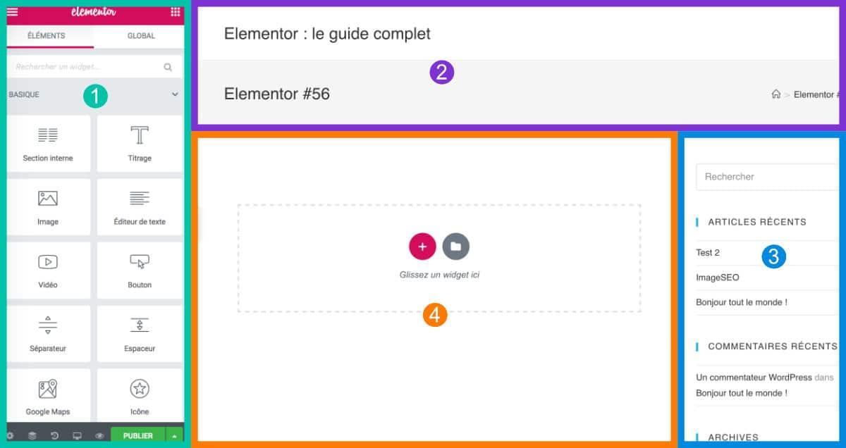 fonctionnement Elementor