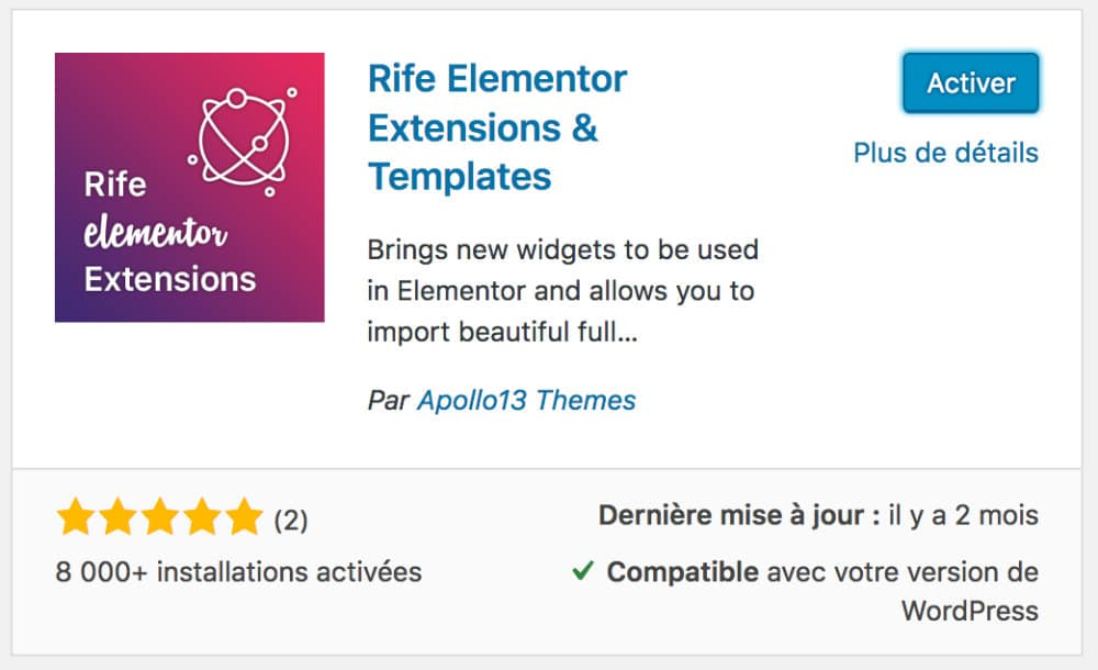 Rife Elementor Extensions & Templates