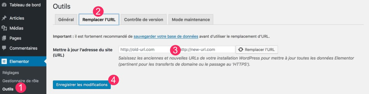 remplacer URL