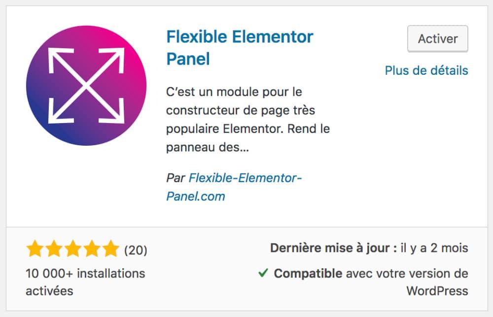 Flexible Elementor Panel