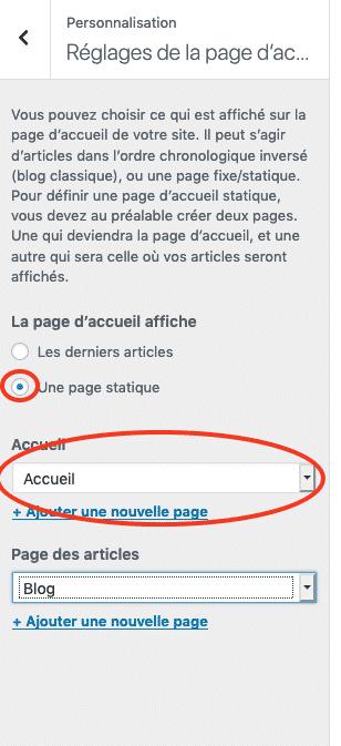 reglage_page_accueil