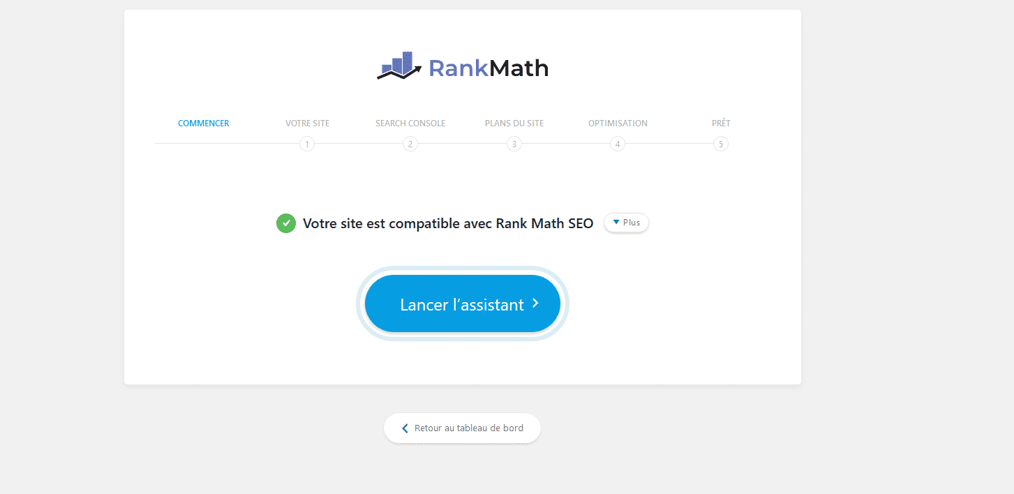 Assistant de configuration Rank Math