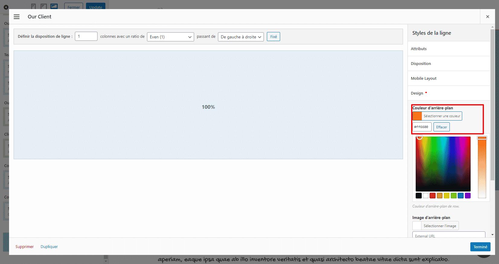 Modifier la couleur d'un bloc de widget sur son One Page SiteOrigin - Formation wordpress WPFormation