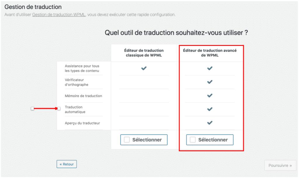 editeur classique vs editeur avancé wpml