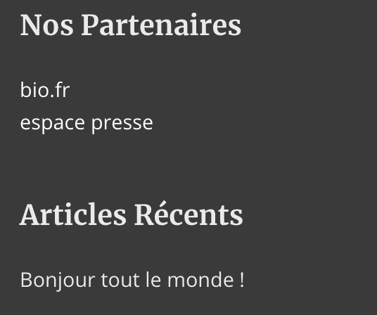 traduction pied de page footer wpml