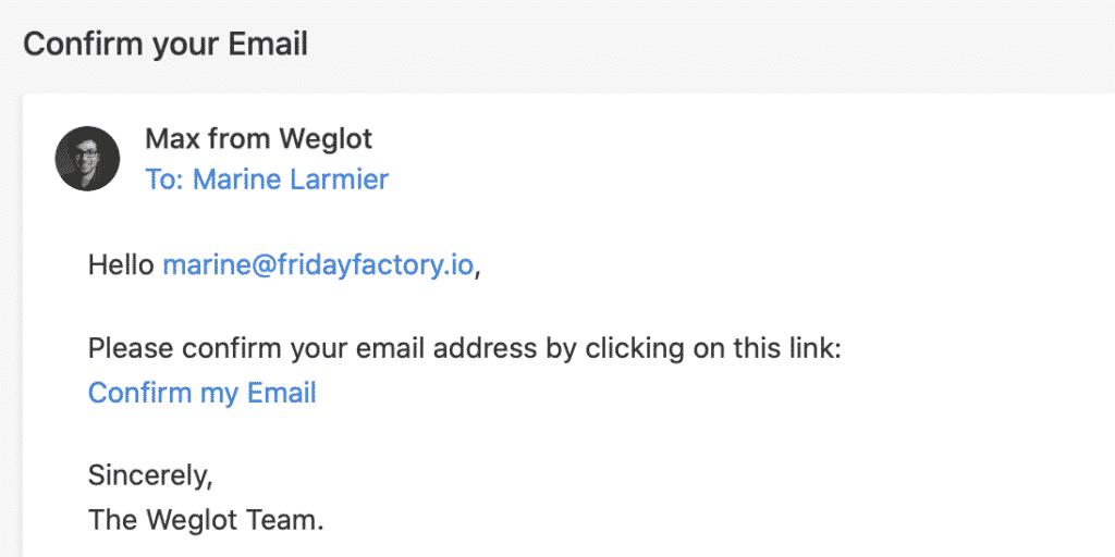 Tutoriel Weglot WPFormation prix par an email de confirmation