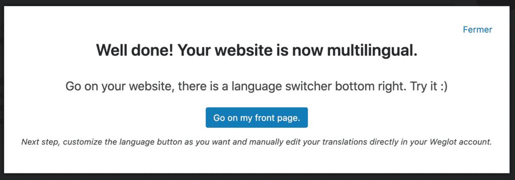 Tutoriel Weglot WPFormation site traduit en un clic