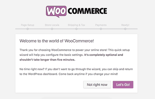 Woocommerce Welcome Note