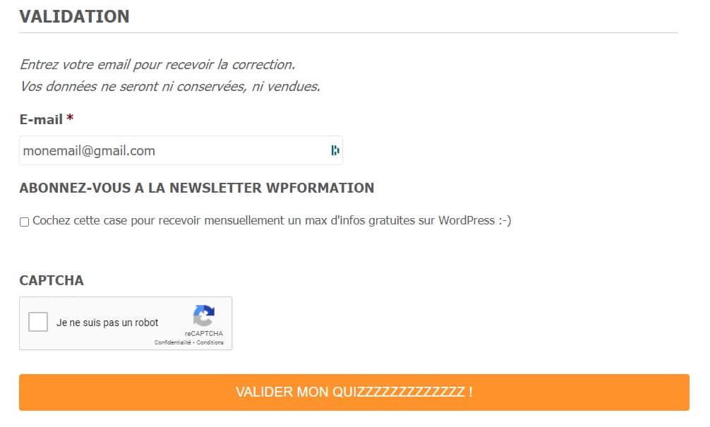 Newsletter Gavity Mailpoet