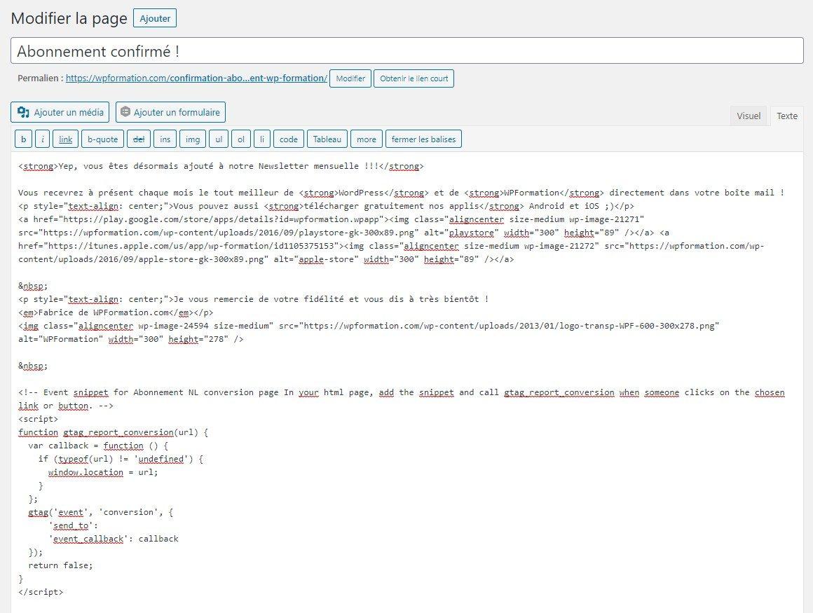 No Plugin Editeur WordPress
