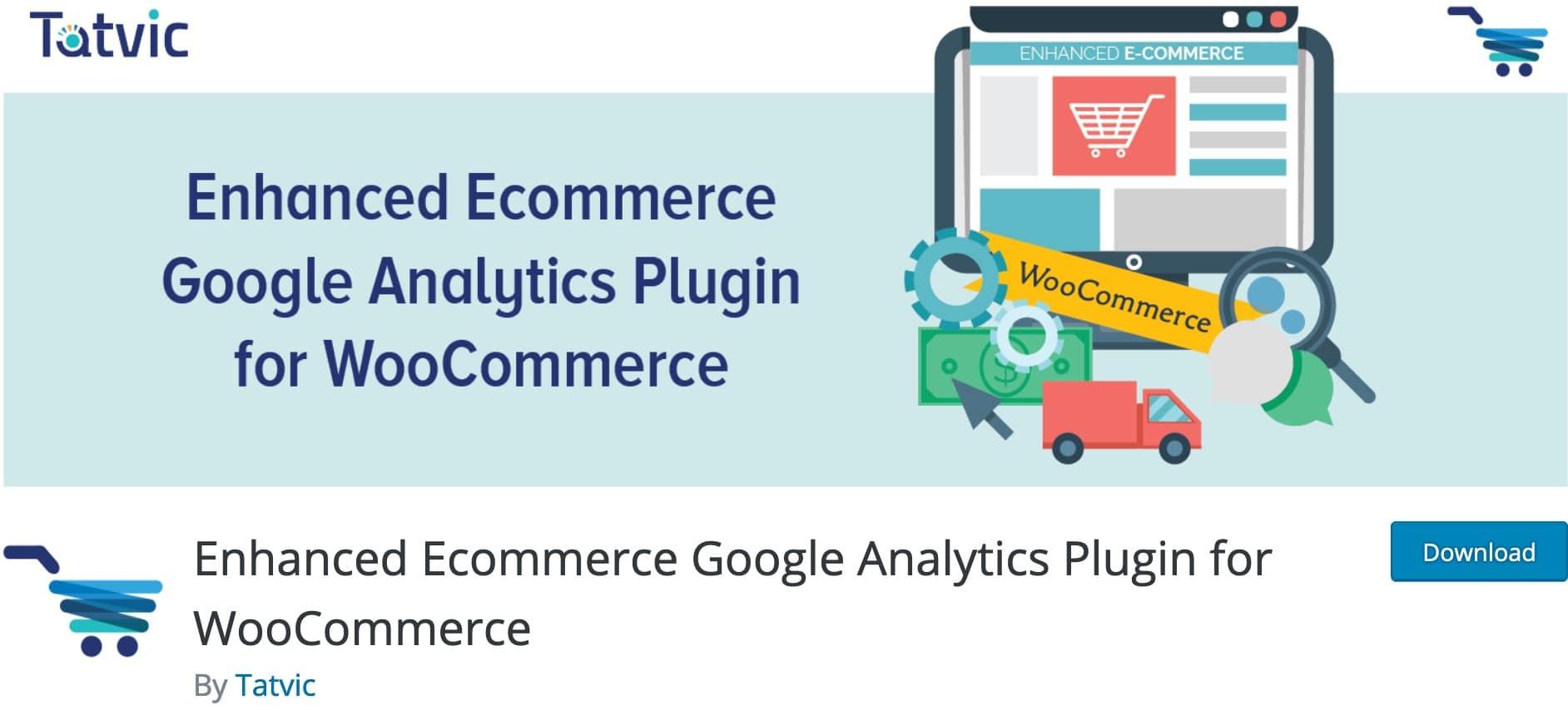 Enhanced Ecommerce Google Analytics Plugin for WooCommerce, Plugin Gratuit Woocommerce WordPress