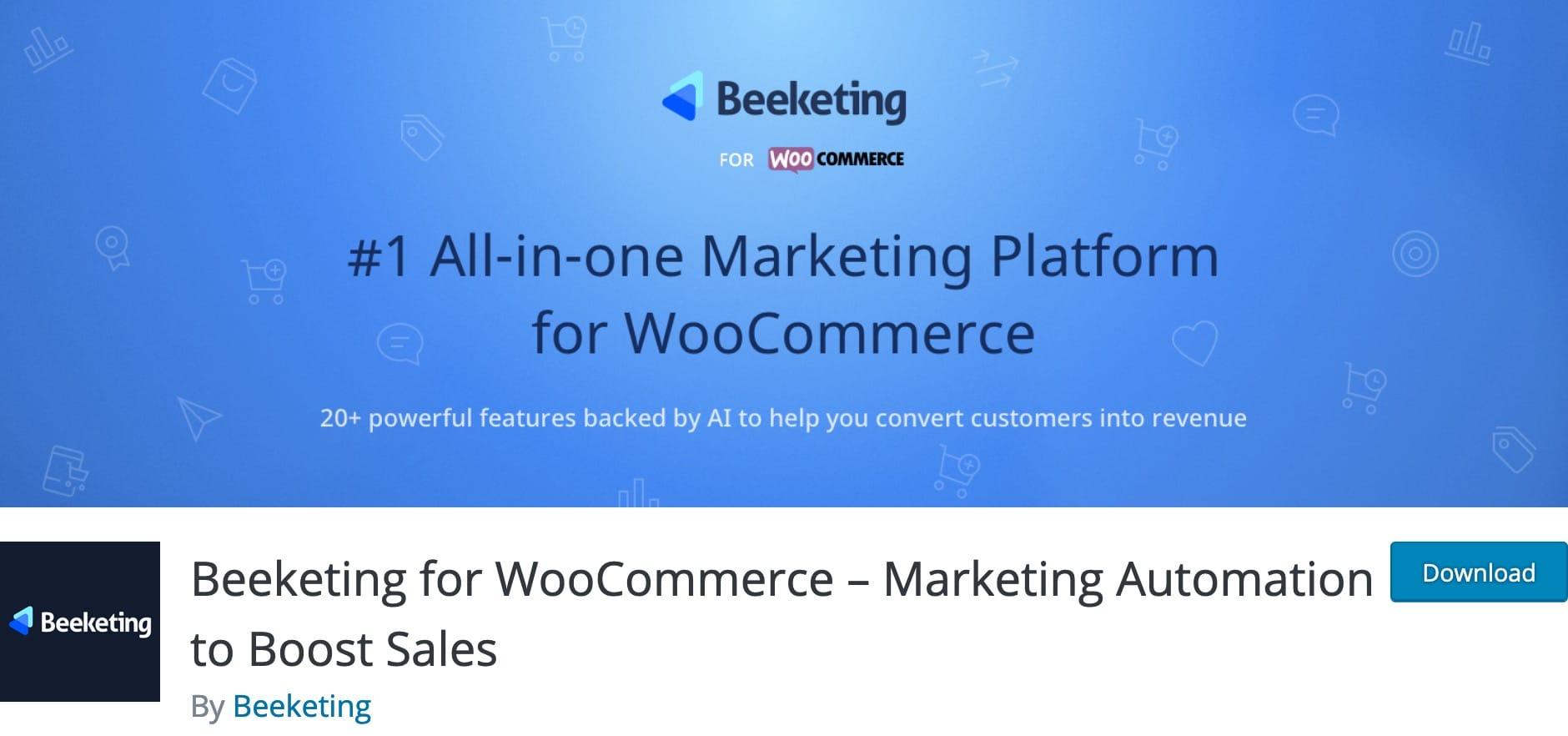 Beeketing for WooCommerce, Plugin Gratuit Woocommerce WordPress