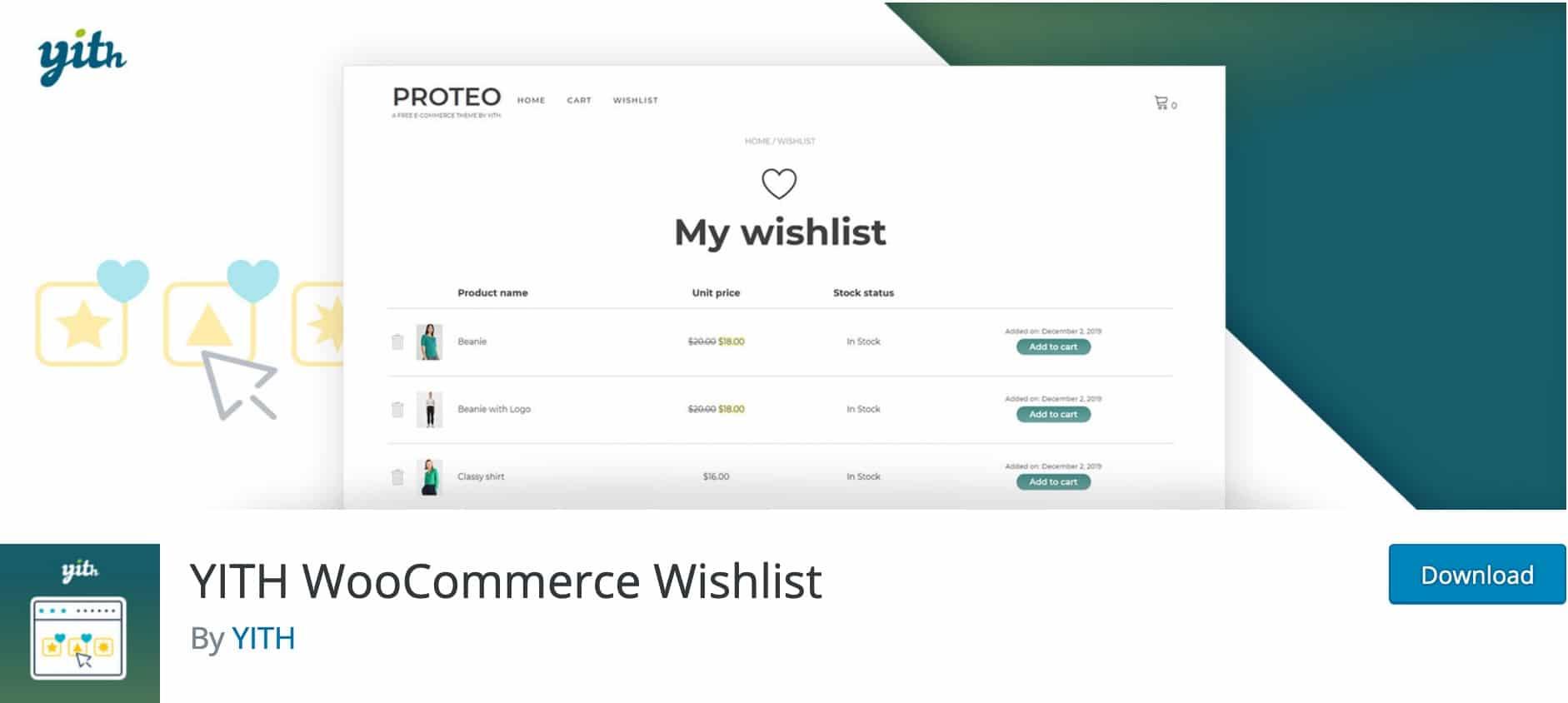 YITH WooCommerce Wishlist, Plugin Gratuit Woocommerce WordPress
