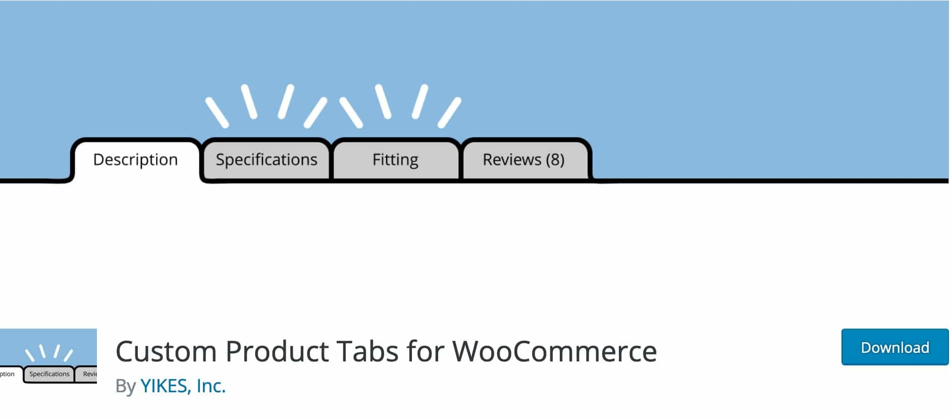 Custom Product Tabs for WooCommerce, Plugin Gratuit Woocommerce WordPress