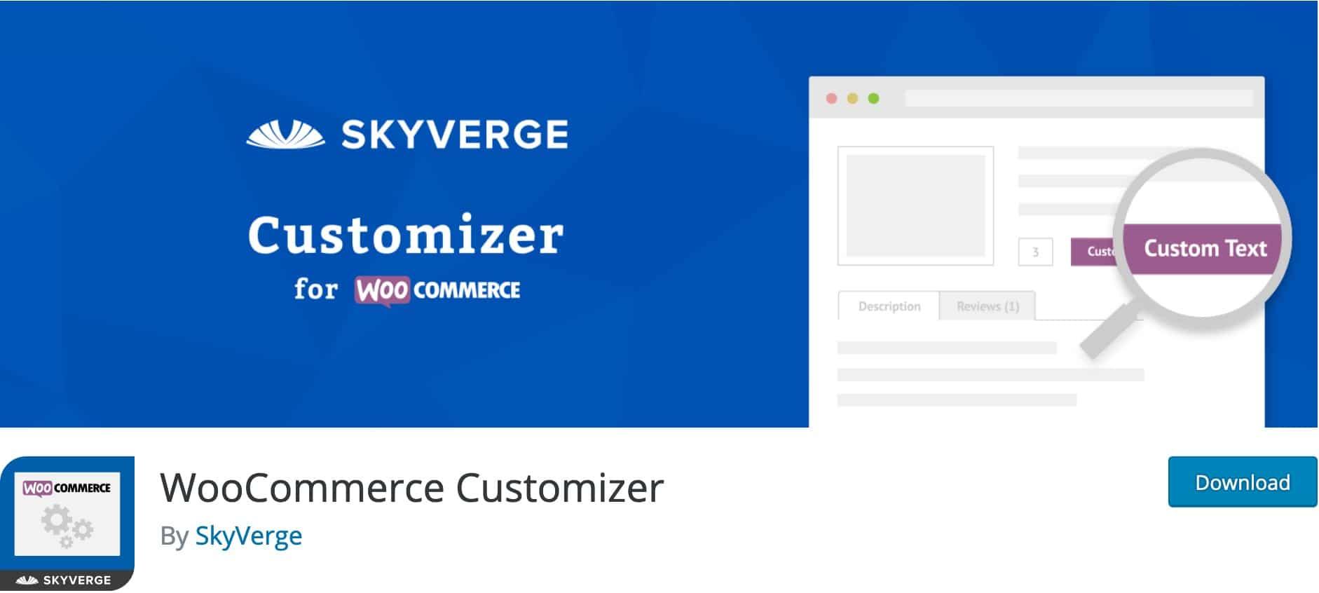 WooCommerce Customizer, Plugin Gratuit Woocommerce WordPress