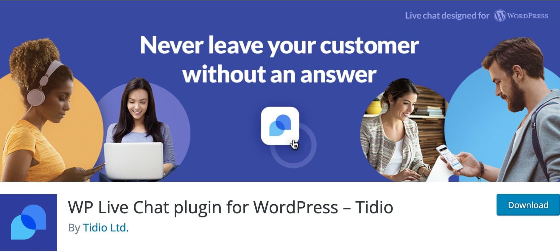 Tidio Live Chat, Plugin Gratuit Woocommerce WordPress